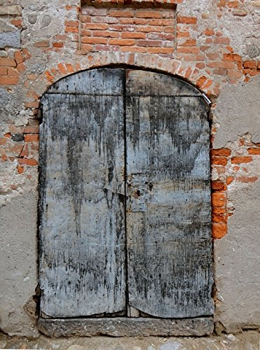 Old Port Wood - Home Comforts LAMINATED POSTER Old Port Door Entry Ancient Wood Door Wood Poster 24x16 Adhesive Decal