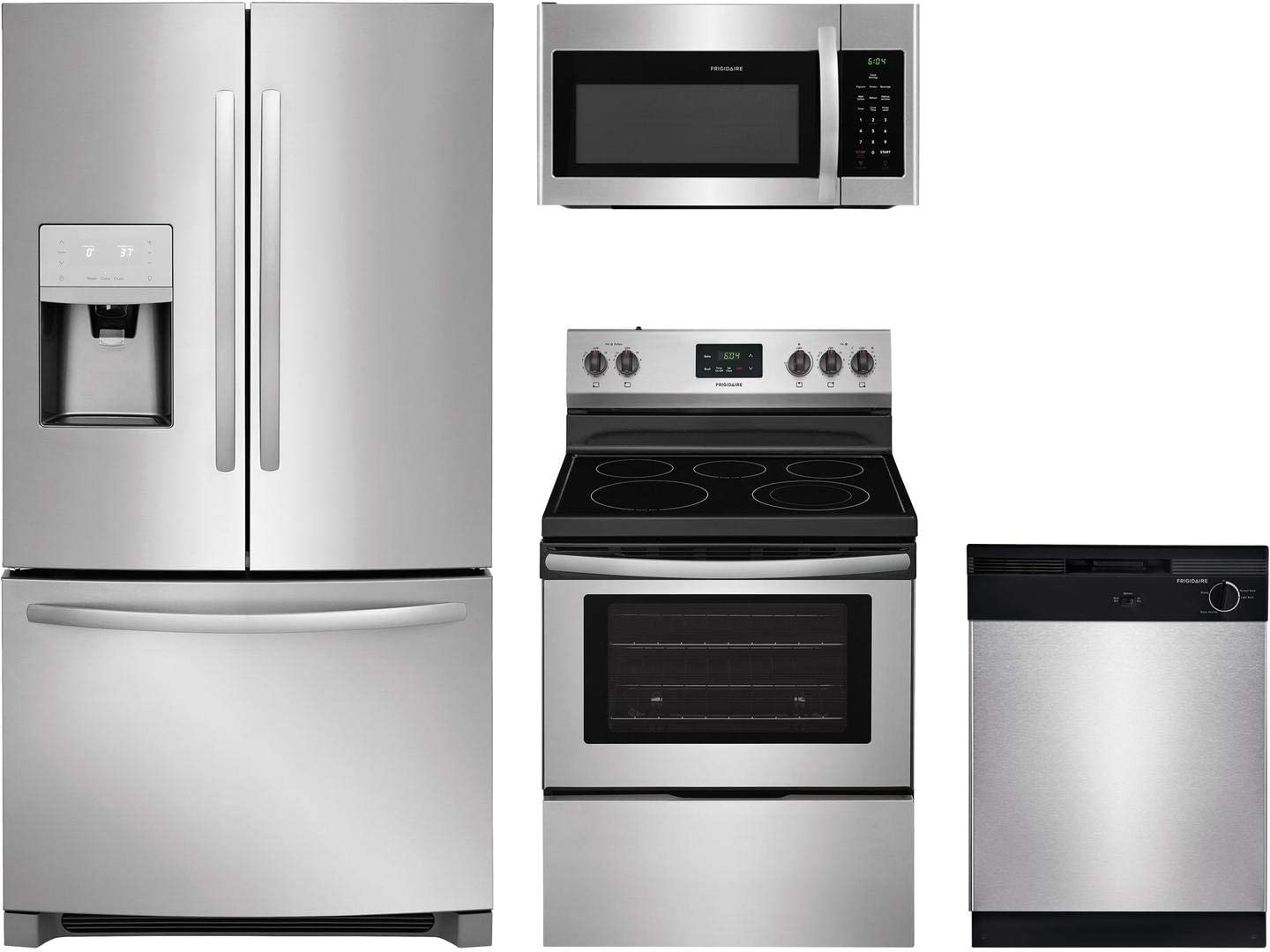 Frigidaire 988251 4 piece Kitchen Appliances Package in Stainless Steel