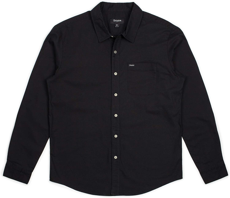 Brixton Mens Charter Standard Fit Long Sleeve Oxford Woven Shirt