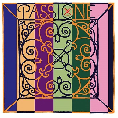 Pirastro Passione Solo Violin Strings - A, 4/4, Aluminum/Gut, Medium, Ball
