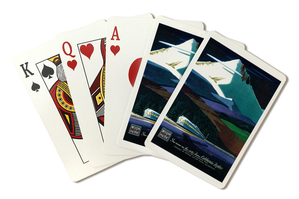 Western Pacific California Zephyr - Vintage Travel Advertisement (Playing Card Deck - 52 Card Poker Size with Jokers)