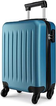 Azul Marino Kono Maleta de Cabina Equipaje de Mano ABS Ligero de 20 Pulgadas,Maleta de Mano Viaje con 4 Ruedas giratorias