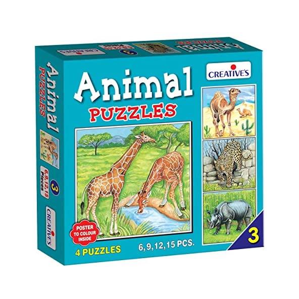 Creative Educational Aids P. Ltd. Animal Puzzle No. 3 (Multi-Color, 42 Pieces)