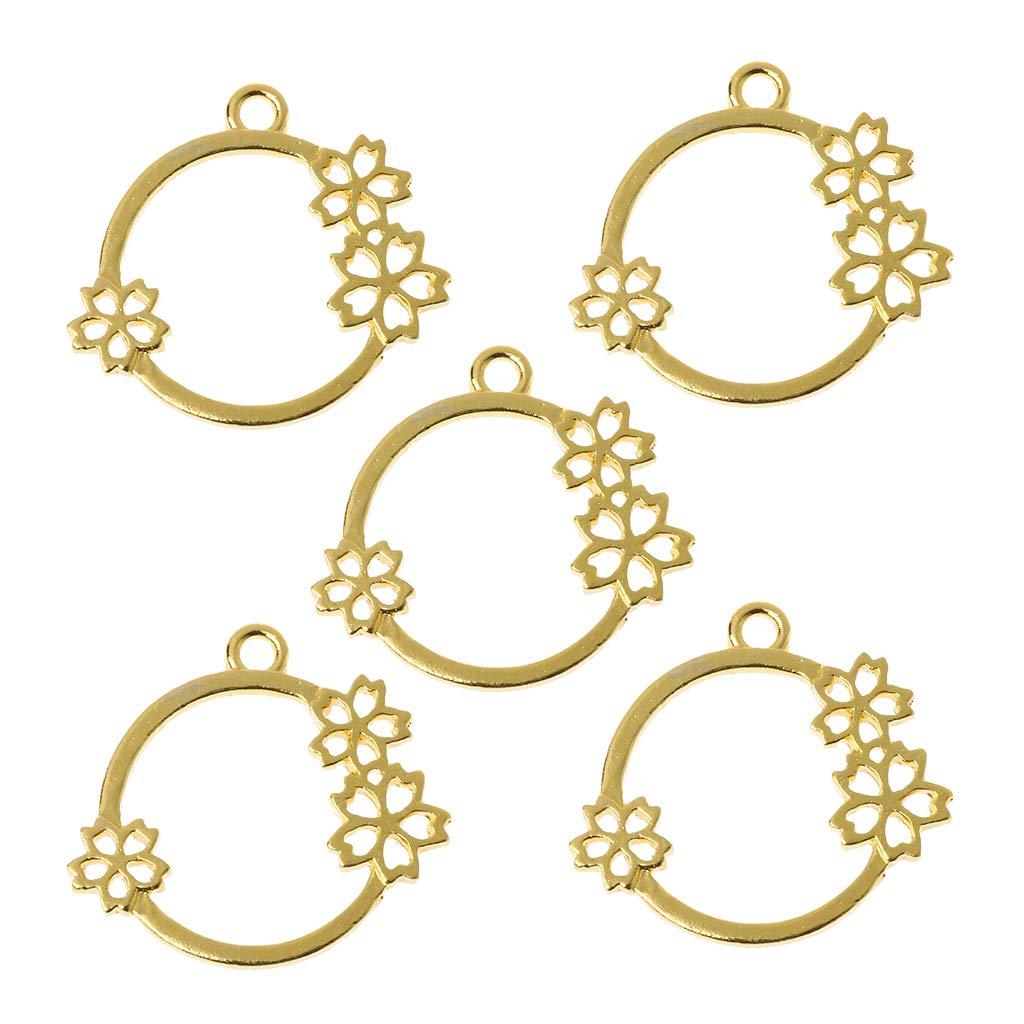 FURU Metals Frames Formen F/ür Halsketten,5 St/ücke Blume Herz Fl/ügel Blank Frame Anh/änger Offene L/ünette Einstellung UV Harz Schmuck