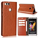 Huawei Mate SE Case, Honor 7X Case, Dngn Luxury Handmade Genuine Leather Multi-function Wallet Kickstand Card Slot Dermis Protective for Huawei Honor 7X (2017) Huawei Mate SE (2018) (Brown)