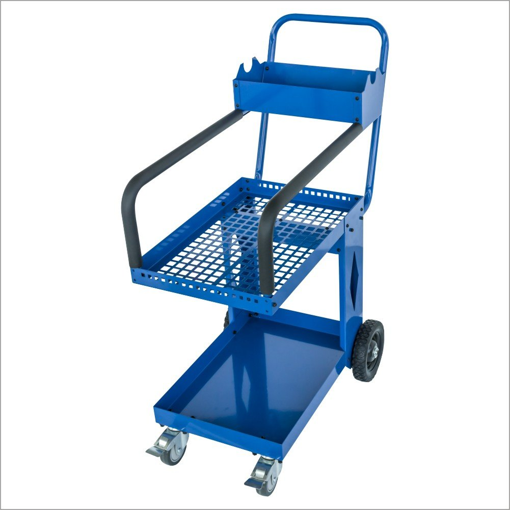 SOLARY PS308 Capacity Service Cart Heavy Duty Mobile Storage Cart Industrial Commercial Service Cart 3 Trays Cart by Solary (Image #1)