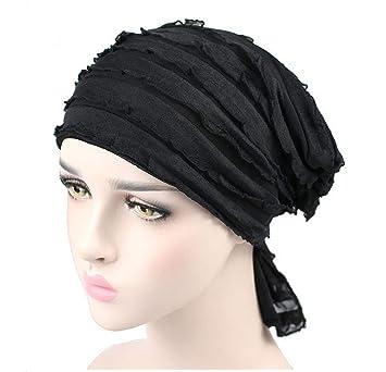 newest 75e7f 5c1c8 Fascigirl Copricapo Turbante, Cappello da Donna con Turbante Chiffon  Copricapo Chemo delle Rughe Berretto Turbante
