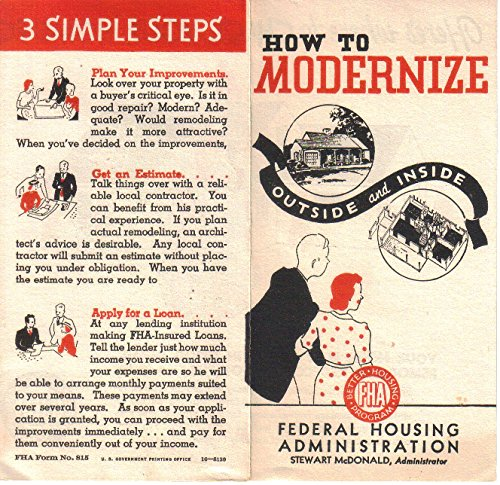 How to Modernize, Outside and Inside, Home Imrovement booklet by FHA