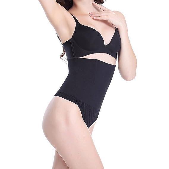 b1d5f8f01f Pop Fashion Womens Shapewear Bodysuit Thong Underwear with High Waist Tummy  Control