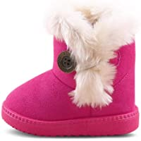 RVROVIC Kids Baby Booties Boys Girls Plush Warm Winter Shoes Hiking Snow Boots Toddler/Little Kid