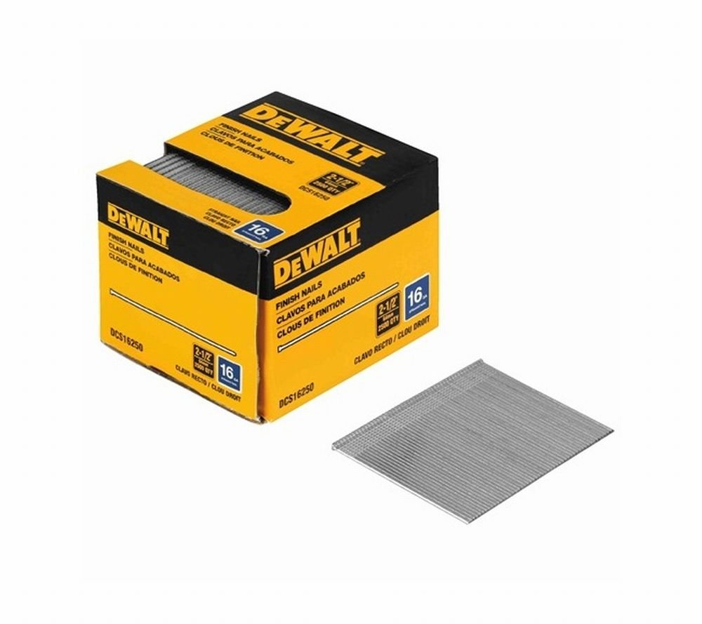Stanley Tools DCS16200 3 Pack 2-1/2in. 16 Gauge Straight Finish Nail 2,500/Box