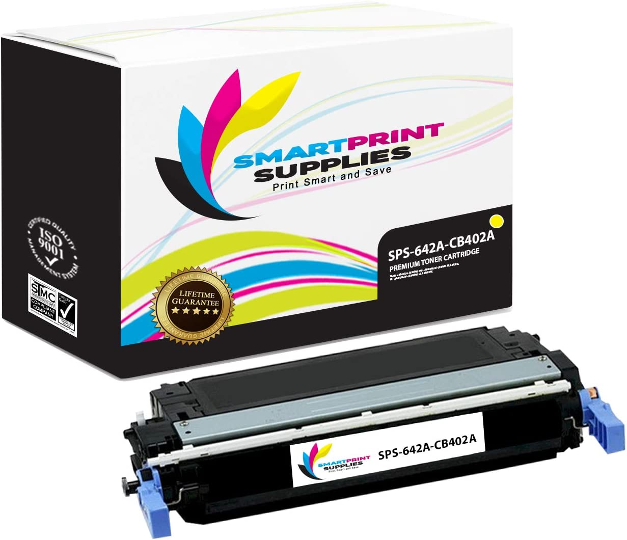 Smart Print Supplies Compatible 642A Toner Cartridge Replacement for HP Color Laserjet CP4005 Printers CB401A Cyan, CB403A Magenta, CB402A Yellow 3 Pack
