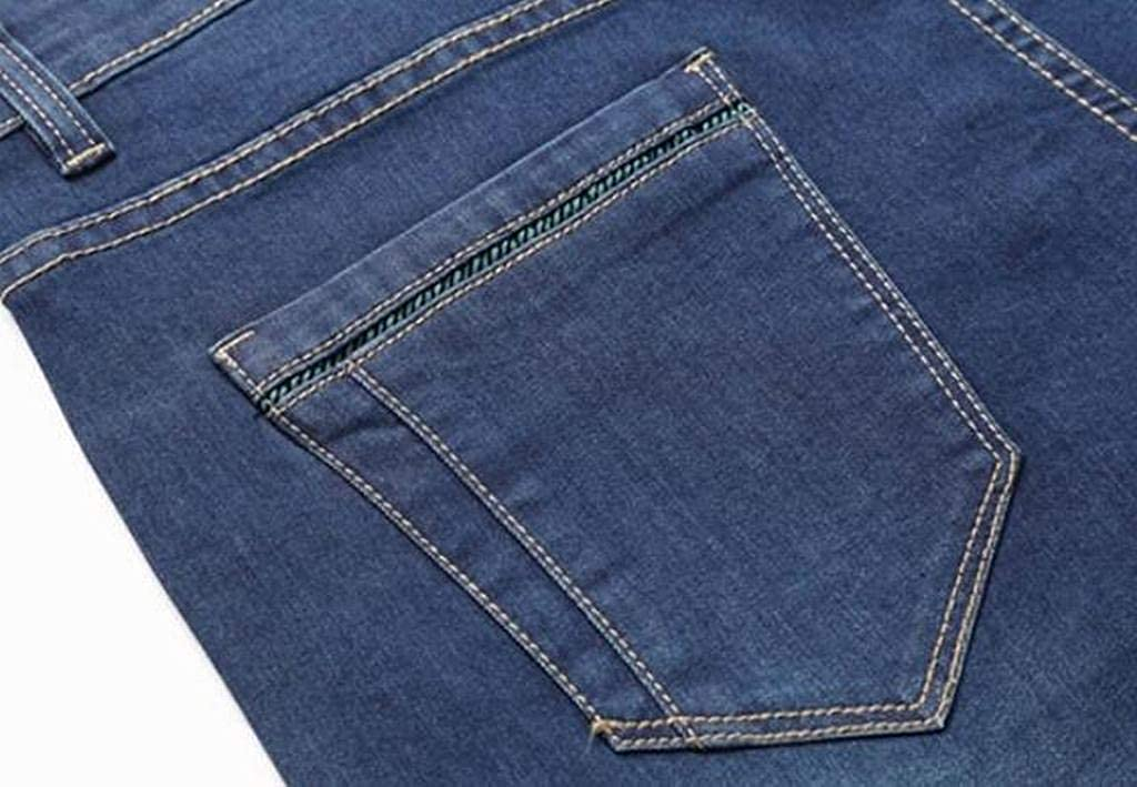 ARTFFEL Mens Plus Size Casual Mid Waisted Straight Leg Loose Fit Jeans Denim Pants