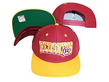 cc3fac35a34 Image Unavailable. Image not available for. Color  Washington Redskins Wave  Maroon Gold Plastic Snapback Adjustable Plastic Snap Back Hat Cap