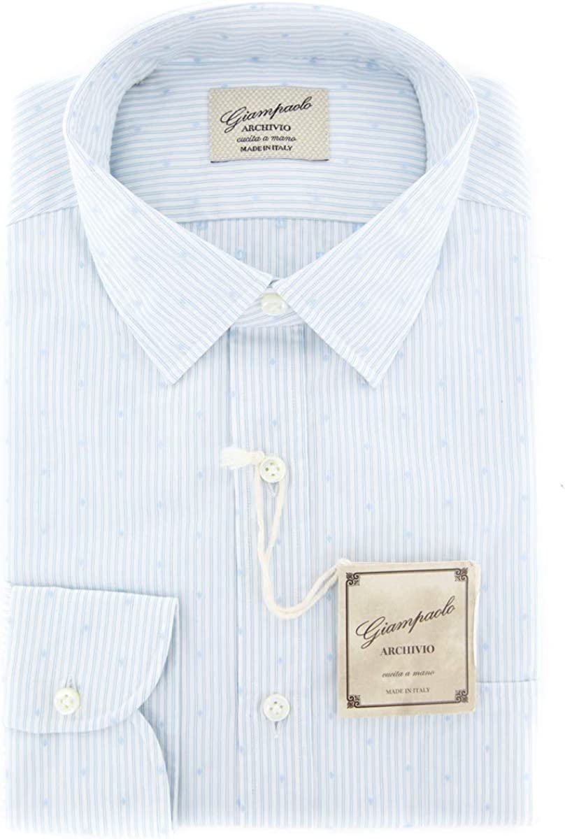 Giampaolo Patterned Button Down Spread Collar Cotton Slim Fit Dress Shirt