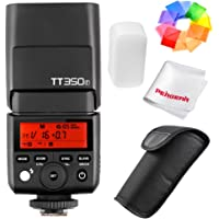 Godox TT350F 2.4G HSS 1/8000s TTL GN36 Camera Flash Speedlite for Fuji Cameras X-Pro2 X-T20 X-T2 X-T1 X-Pro1 X-T10 X-E1 X-A3 X 100F X100T with Color Filters and PERGEAR Cleaning Cloth