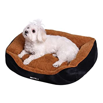 ANIMALY FLUFFY Cama para mascotas, cama para perros blanda, cama para gatos de peluche