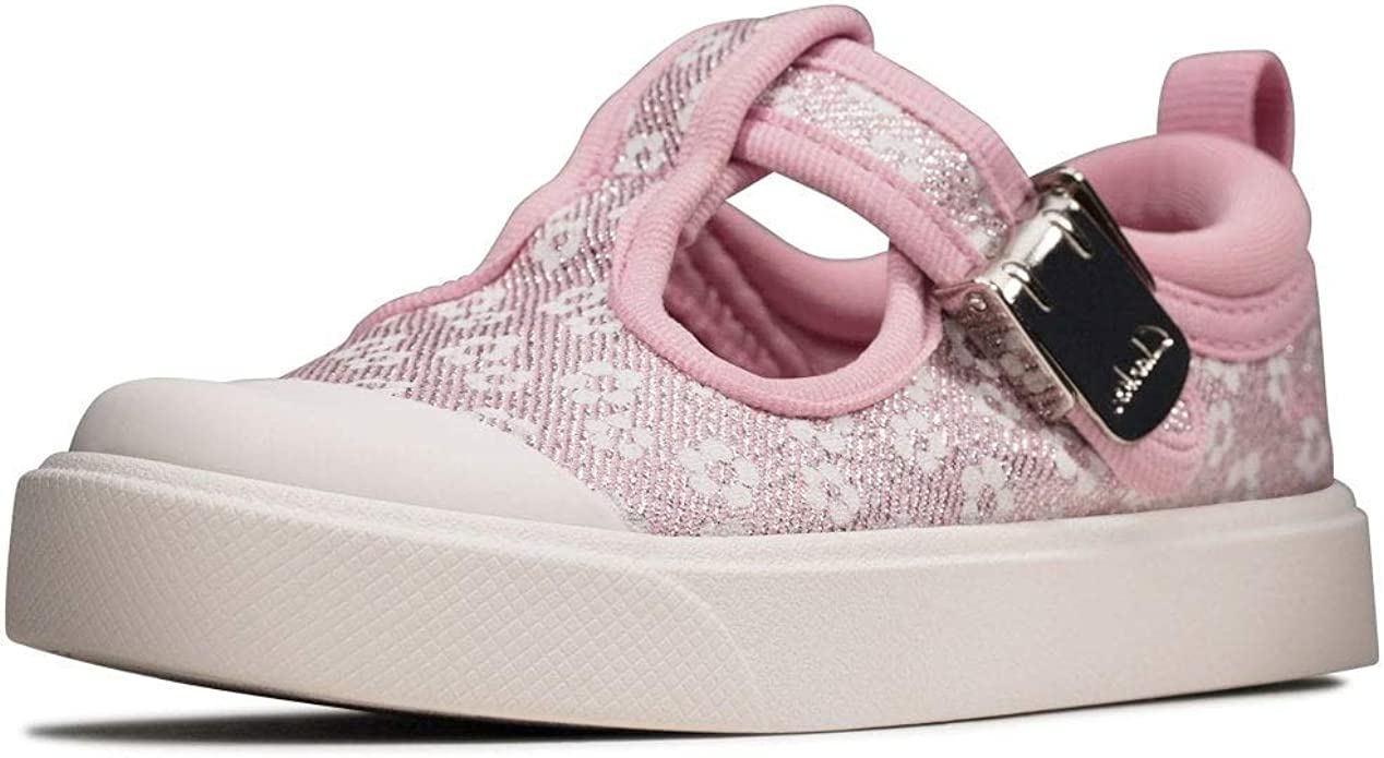 Details about  //'Girls Clarks Casual/' Glittery Flat Shoes Dance Tap