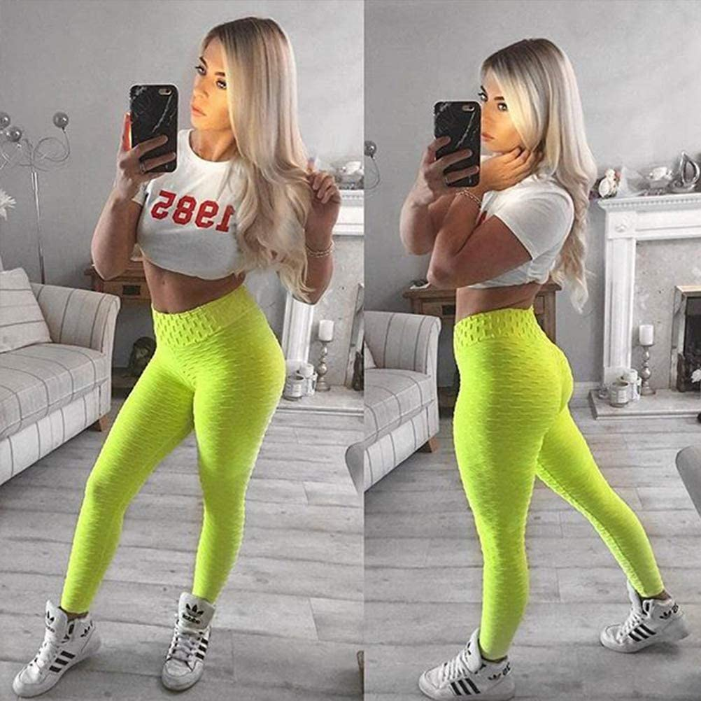 ORANDESIGNE Leggings Femme de Compression Anti-Cellulite Slim Fit Butt Lift Elastique Pantalon de Yoga Taille Haute Sport