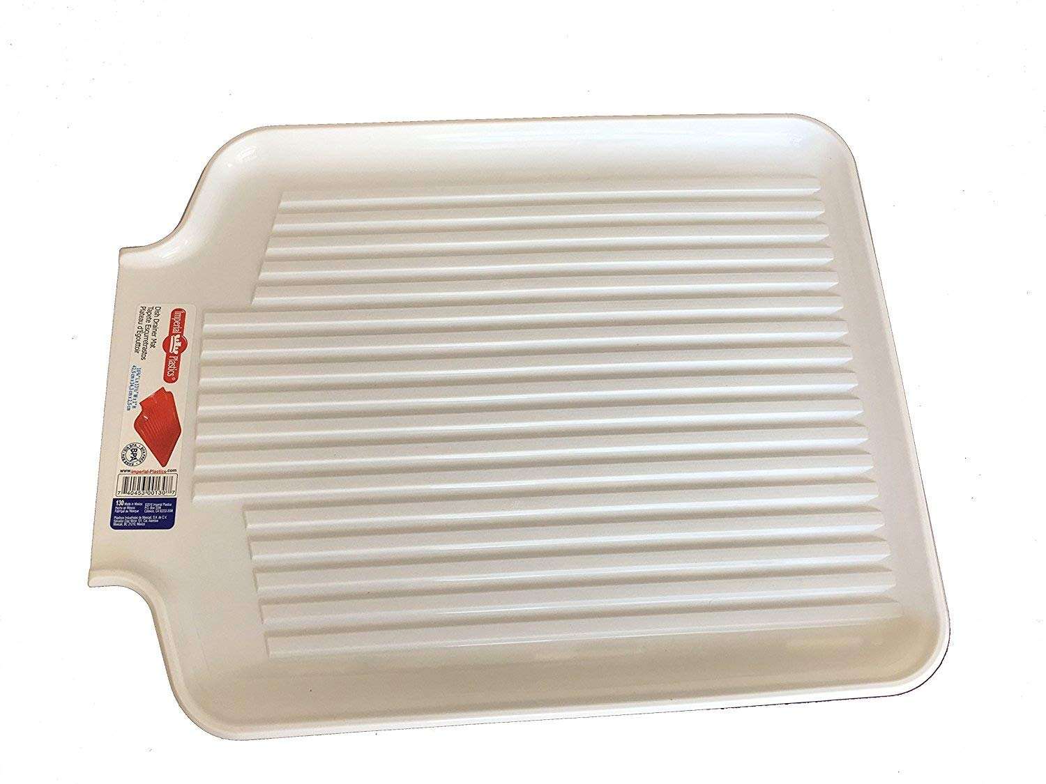 Kitchen Counter Dish Drainer and Drying Mat, White Imperial Plastics