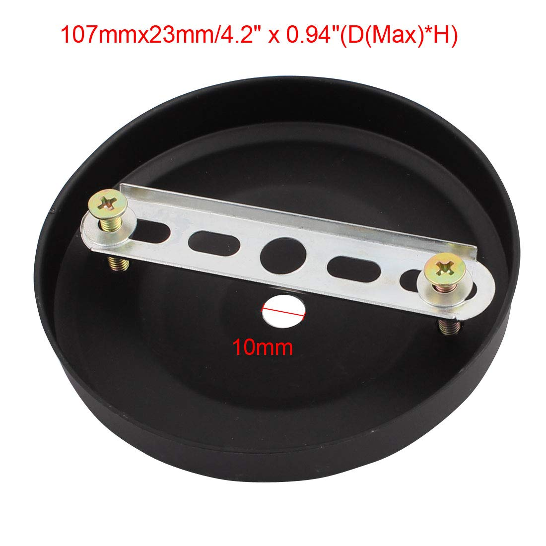 uxcell 3Pcs Ceiling Lamp Plate Pointed Base Disc Chassis Pendant Light Accessories 105mmx23mm w Screw LEPOA6307