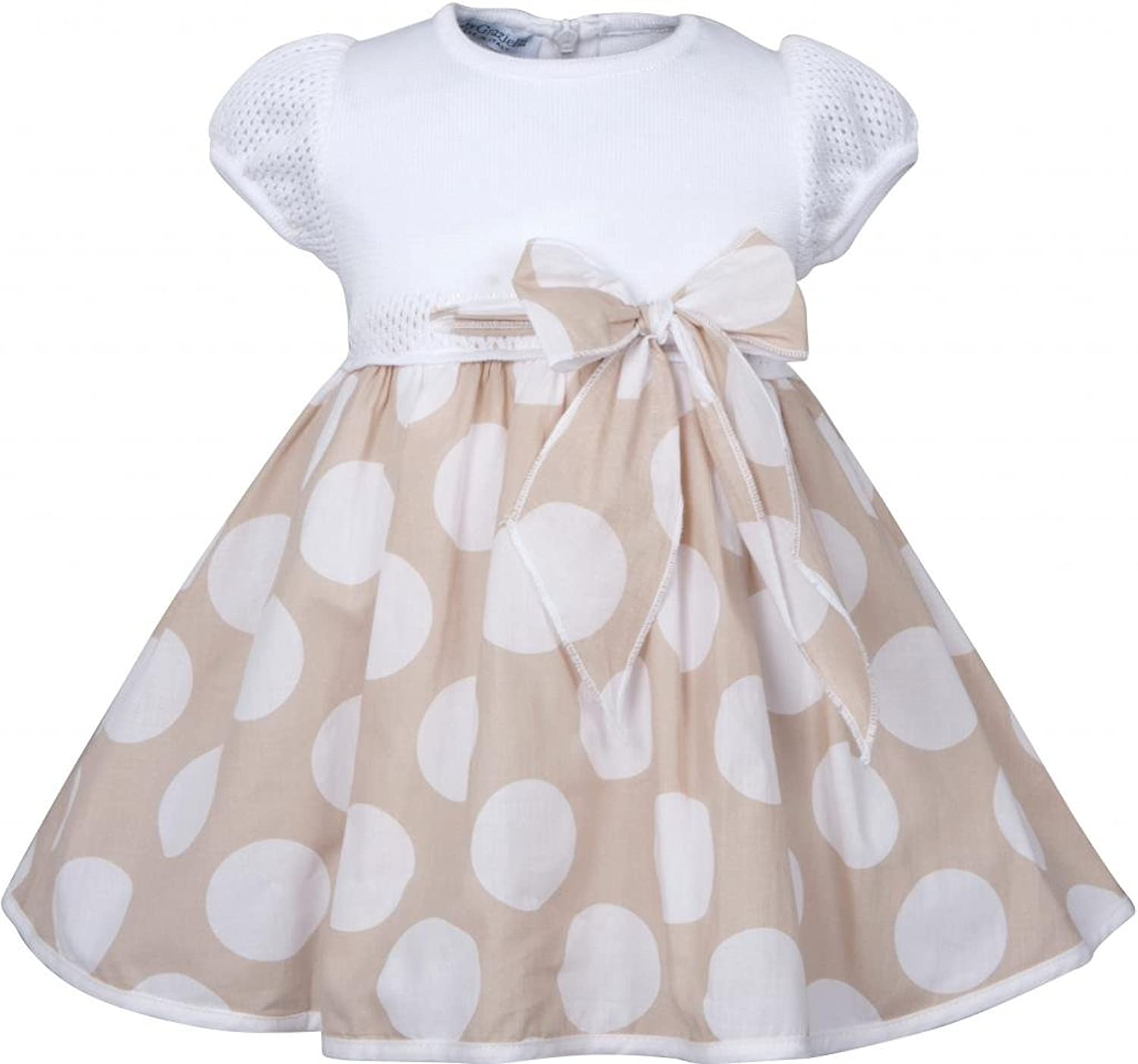 Amazon Baby Graziella Baby girls Polka Dot Dress with Bow