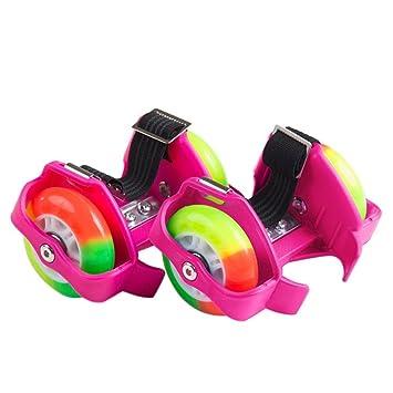gaddrt niños talón Skate Ruedas Ajustable Dos Ruedas Skate zapatos Scooters juventud ajustable ruedas talón patines patinaje sobre ruedas zapatos patinaje ...