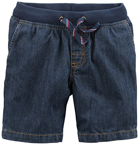 (Carter's Boys' 2t-5t Stretch Waist Shorts 2T, Denim Blue )