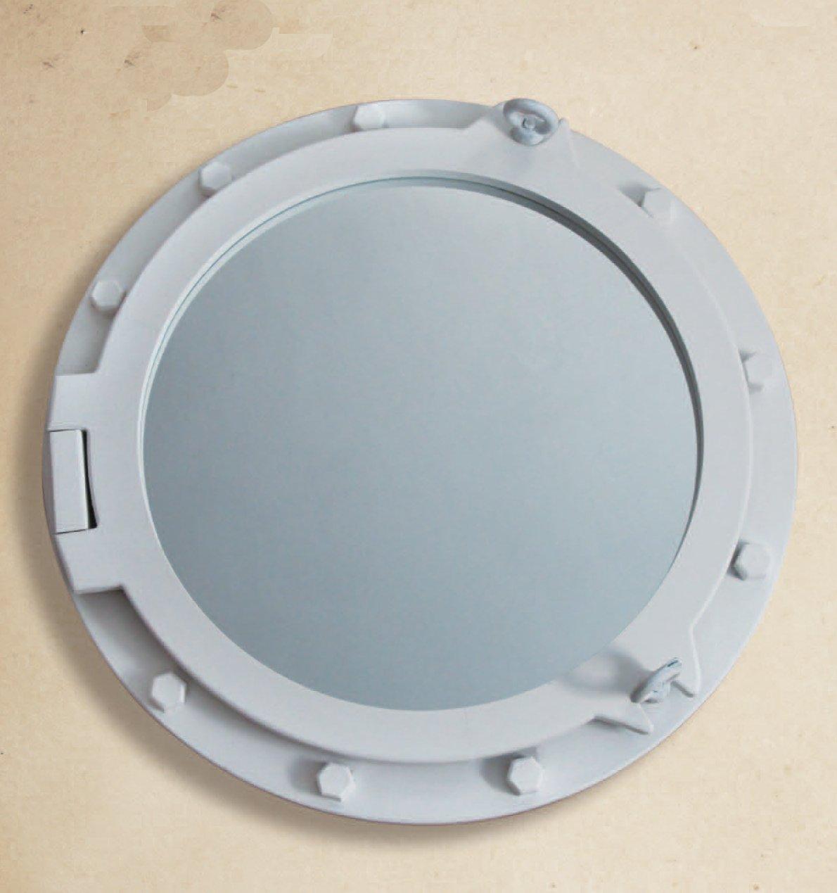 amazoncom white wooden nautical porthole mirror wall mounted mirrors posters u0026 prints