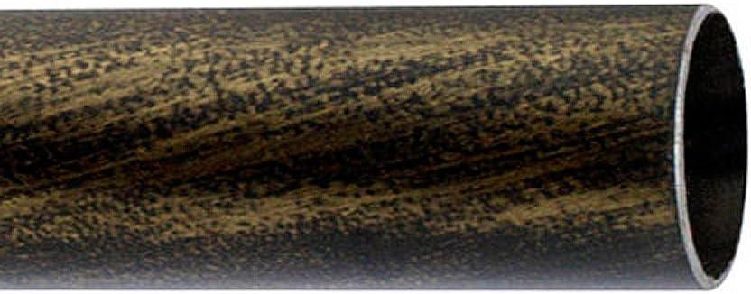 Riel Chyc 5431876 Barra Hierro Forja 20 mm. x 1,50 Metros Negro Dorado