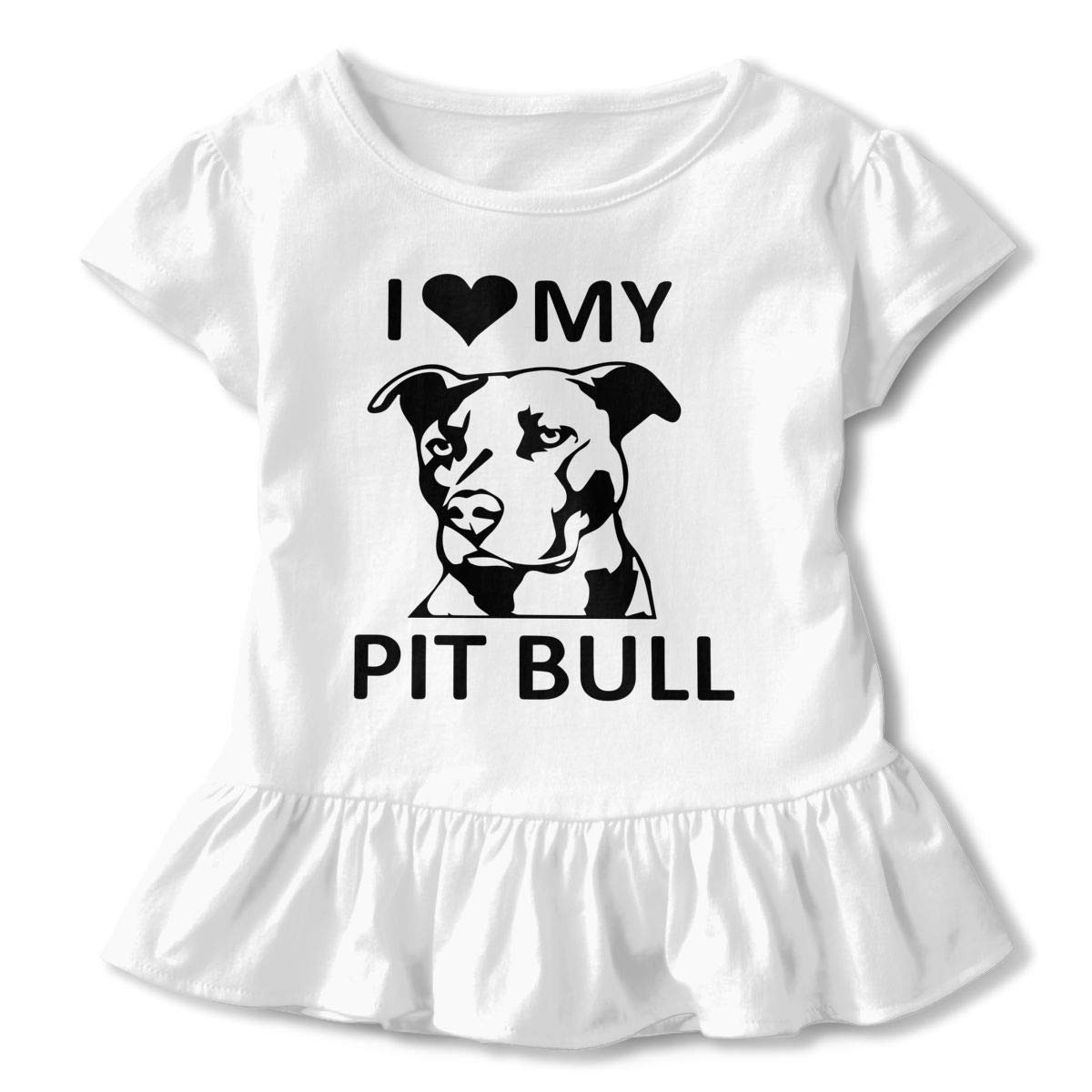 Iheart My Pitbull Kids Children Crew Neck Tee Help Shirt