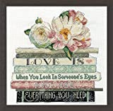 Design Works Crafts 2979 Counted Cross Stitch Kit, Love is Counted, 10'' X 10'' Counted Cross Stitch Kit, Love is Counted