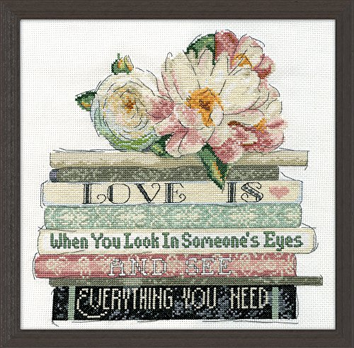 Design Works Crafts 2979 Counted Cross Stitch Kit, Love is Counted, 10'' X 10'' Counted Cross Stitch Kit, Love is Counted by Design Works Crafts