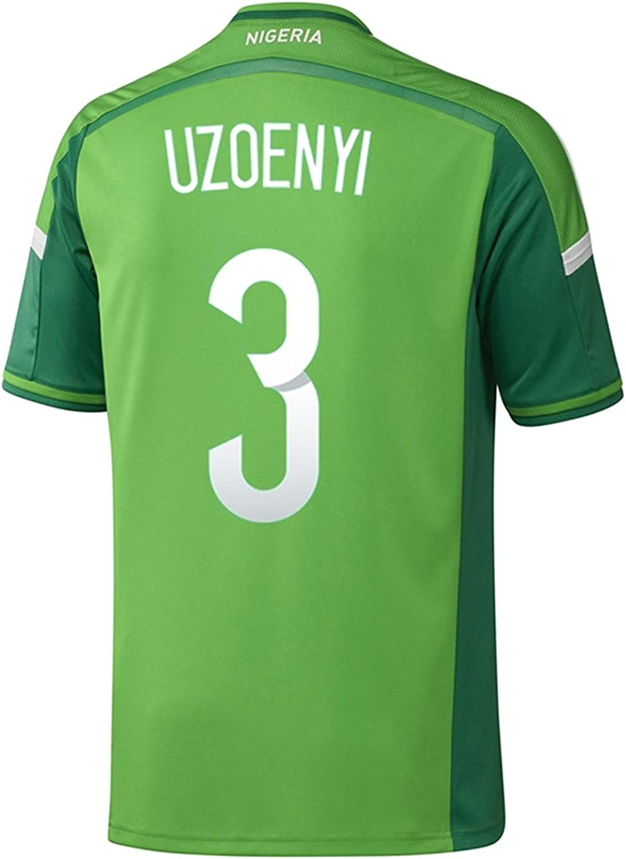 adidas UZOENYI #3 Nigeria Home Jersey World Cup 2014