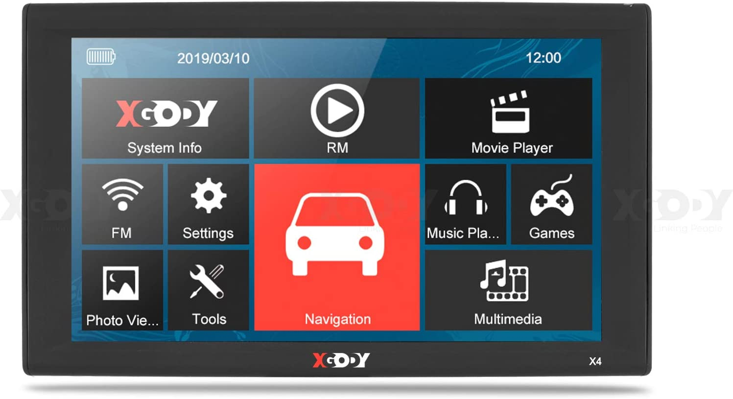 XGODY 9 Pulgadas Auto cami/ón HGV Bus Sat NAVS GPS navegaci/ón Monitor de Pantalla t/áctil