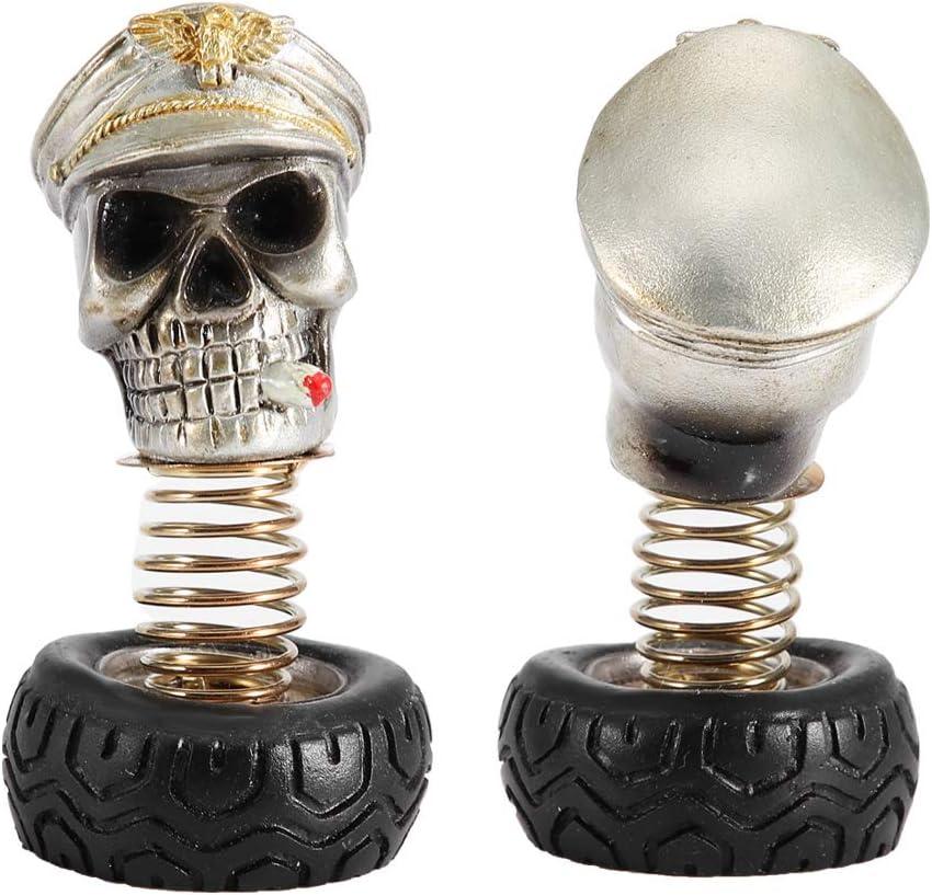 Skull Car Ornament Swing Waving Human Skull Car Interior Decoration Dashboard Ornament Decor Accessories