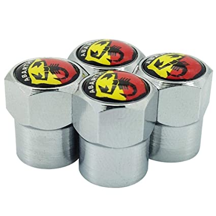 for ABARTH, black GZ RuiLiPu 4PCS Auto Accessories Wheel Tire Parts Valve Stem Caps Cover for fiat 500 abarth car styling