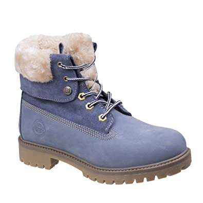 9e1edc2679f9 Darkwood Womens Ladies Walnut Casual Leather Boots (5.5 UK) (Steel Blue)