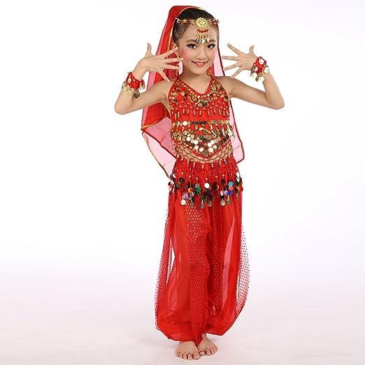QHJ - Camisola para niña, Disfraz de Danza India, Falda de Danza ...