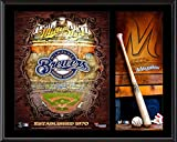 """Milwaukee Brewers Sublimated 12"""" x 15"""" Team Logo Plaque - MLB Team Plaques and Collages"""