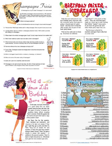 Printable Game (Printable 40th Birthday Party Games Pack [Download])