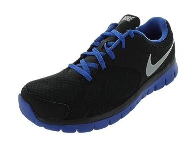 34d466c7993f Nike Men s FLEX 2012 RN RUNNING SHOES 7.5 Men US (BLACK METALLIC SILVER