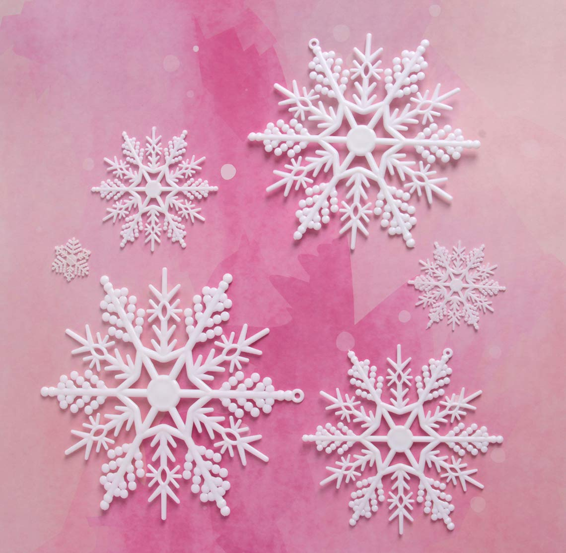 30 Counts Snowflake Party Supplies Bilipala Winter White Snowflakes Decorations Ornaments