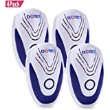 Doset Pest Control Ultrasonic Repeller, Electronic Plug In repellent indoor for Insects, Mosquitoes, Mice, Spiders, Ants, Rats, Roaches, Bugs, Non-toxic Eco-Friendly, Human & Pet Safe (4PC, Blue)
