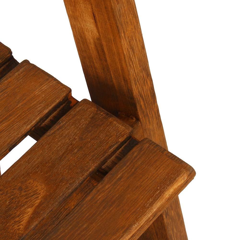 Burlywood EBTOOLS Estanter/ía Escalera de Madera Maciza de 4 Niveles 42 x 34.8 x 112.6cm Estante de Almacenamiento para Libros Soporte de Planta Maceta Flores para el Hogar Oficina
