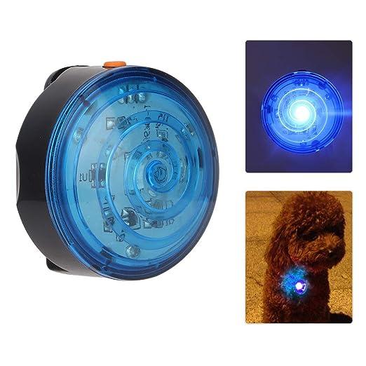 Pssopp Collar de luz LED para Mascotas Colgante Impermeable para Perros Colgante Resistente a la Intemperie Luz para Arriba Collar de Cuello con Clip Luz de Seguridad para Mascotas Naranja