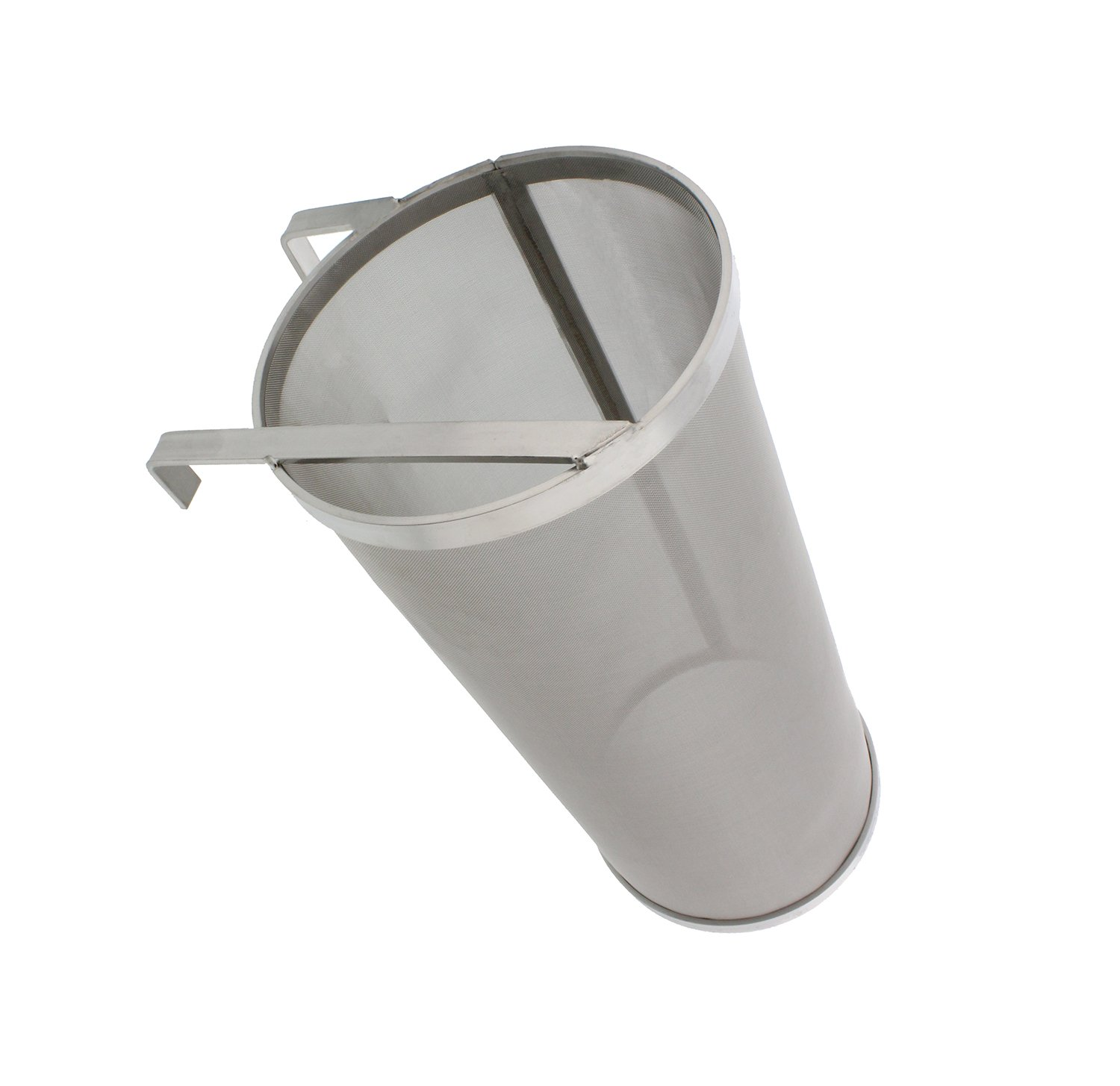 """Brewing 6""""x14"""" Inch Hopper Spider Strainer – Stainless Steel 300 Micron Mesh Homebrew Hops Beer & Tea Kettle Brew Filter"""
