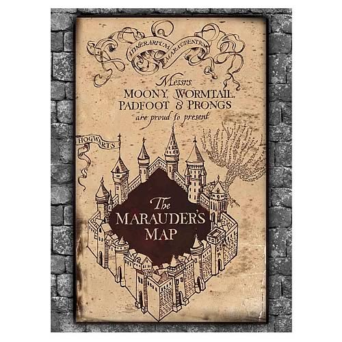 Harry Potter 1,000 Piece Marauder's Map Jigsaw Puzzle