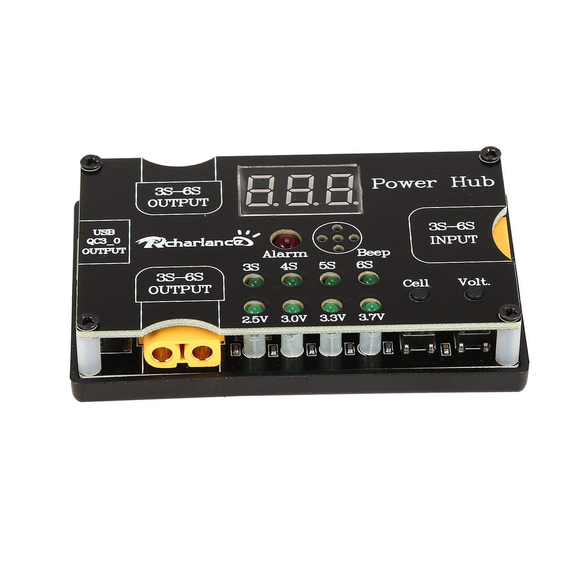 ハブ電源XT60 3A充電器用電源アダプタボード電話ipadスマート充電装置rcドローンクアドコプターアクセサリー - ブラック B07NC63HF8