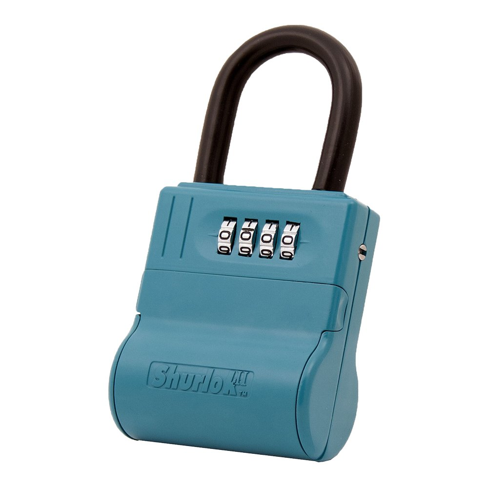ShurLok II SL-600W 4 Dial Numbered Key Storage Combination Lock Box with Blue Finish - 12 Pack